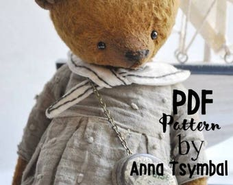 PDF E-PATTERN for Teddy Sailor 7.5 inch