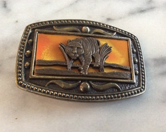 Brass Tiger Belt Buckle.  CI Inc, New York