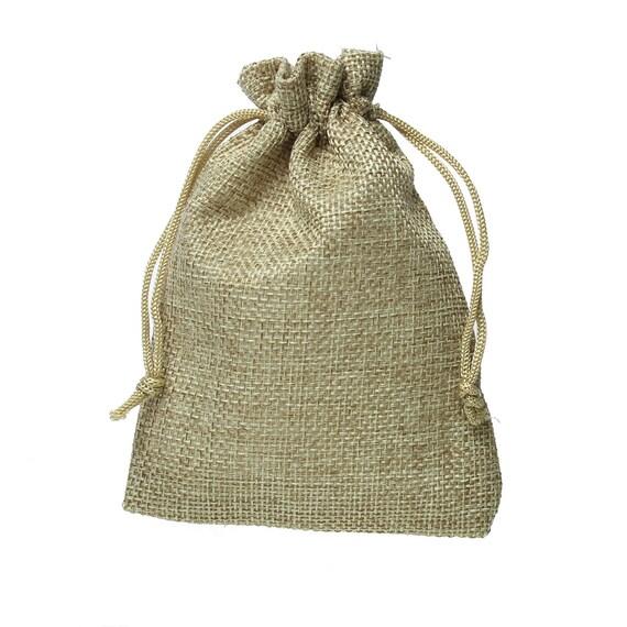 20 burlap bags wholesale khaki with draw strings