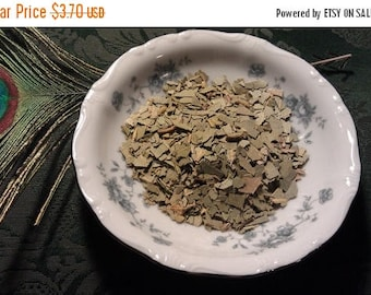"""Etsy On Sale Eucalyptus, leaves dryed  and Condensed to small .5 to.25"""" pieces,as pictured, Aroma Therapy, Inscense, Potpourri, Spells,Desta"""