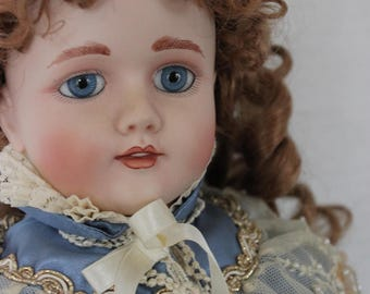 "Vintage 21""  FHD Antique German Reproduction Porcelain Doll"