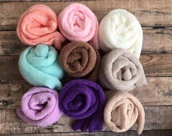 RTS newborn mohair wrap in 6 colors, newborn layer, newborn prop, newborn fabric, basket stuffer, baby wrap, photography prop, mohair wrap