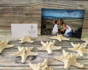 Starfish Place Card Holder, Starfish Wedding Holder, Starfish Table Holder, Beach Wedding Place Card, Beach Wedding, Starfish Wedding Card