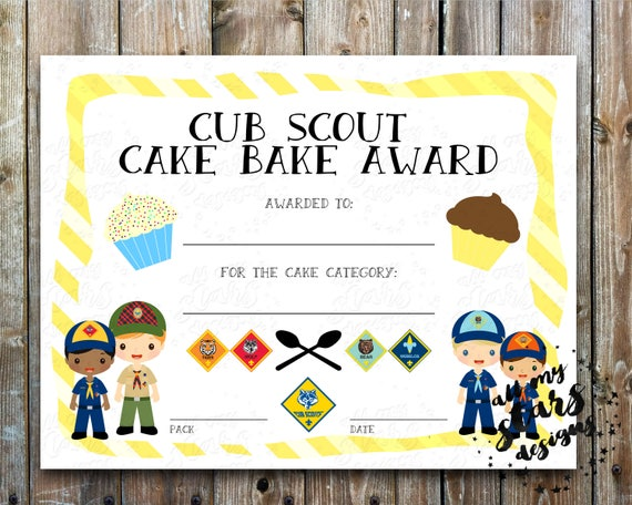 Cub scout cake bake award blank certificate 85x11 diy cub scout cake bake award blank certificate 85x11 diy printable award fill in blue and gold banquet cub scout cake auction yelopaper Gallery