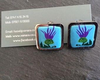 Scottish cufflinks - Thistle - Scottish gift