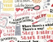 NEW - Timeless Treasures - Baking Time with Sprinkles - Ivory - Novelty Fabric - Choose Your Cut 1/2 or Full Yard