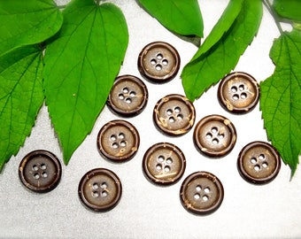 VINTAGE: 35 Coconut Buttons - Natural Buttons - Sewing, Crafts, Jewelry -  SKU 17-E1-00008154