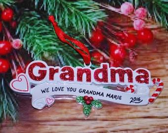 Personalized Grandma Ornament