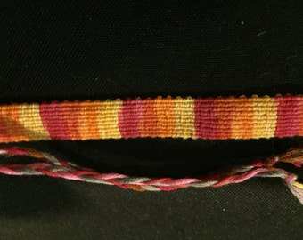 Red, Orange, and Yellow Tie-Dyed Bracelet
