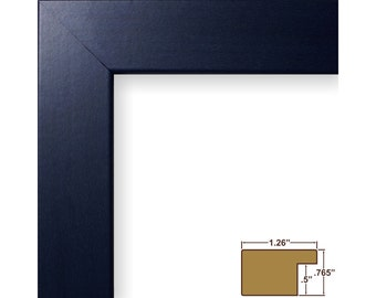 "Craig Frames, 12x18 Inch Modern Blue Picture Frame, Colori, 1.25"" Wide (260251218)"