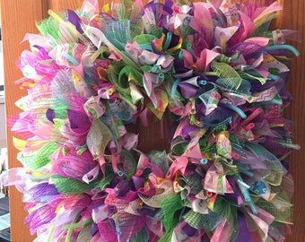 Spring/Easter Square Wreath