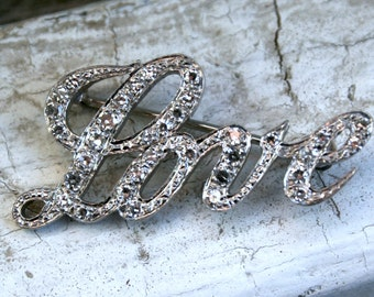 "Great ""LOVE"" Pave Diamond Brooch Pin - 0.68ct."
