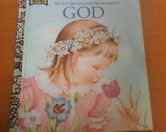 "Vintage Little Golden Book ""My Little Golden Book About God"" Illustrated by Eloise Wilken"