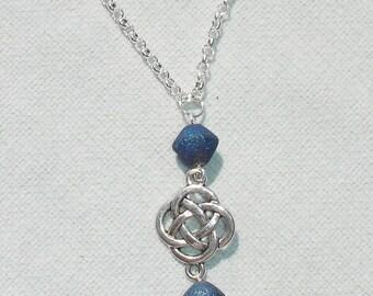 Druzy Gemstone, Celtic Knot, Pentagram & Gemstone Traveling Rear View Mirror Car Charm