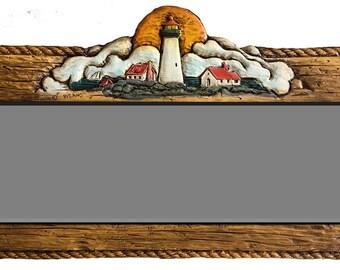 Nautical Decor Lighthouse Wall Mirror