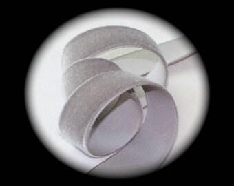 "Velvet  Ribbon, Rayon  5/8"" x 3 yards, 100% Rayon Cameo Brand German - Medium Gray"