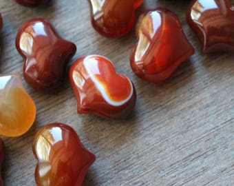 Carnelian Puffy Stone Shaped Heart H129
