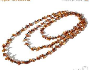 CHRISTMAS SALE Cognac Baltic Amber Necklace, Bracelet Or Anklet
