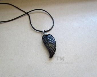 No Angel - Black Wing Necklace