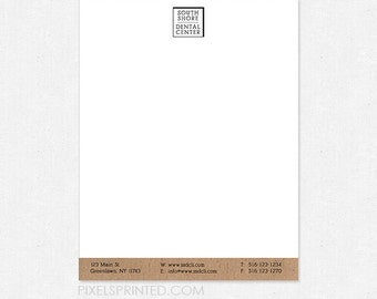 8.5x11 dentist letterhead - full color front, blank back - 70 lb. smooth white paper - FREE design - FREE UPS ground shipping