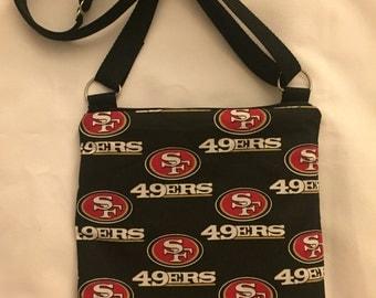 San Francisco 49ers Football Crossbody Bag with adjustable strap-Crossbody Bag- NFL Football Purse
