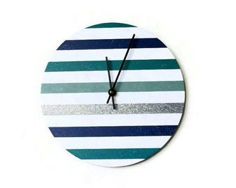 Unique Wall Clock, Modern Clock, Silver Glitter,  Home Decor,  Decor and Housewares, Home and Living