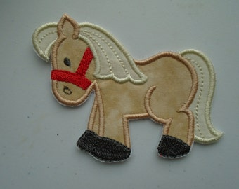Barnyard pony embroidered iron on applique  patch