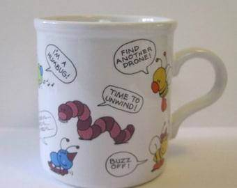 Vintage Springtime Insects Coffee Mug