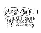 Message in a Bottle decal for Annie