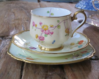 Mismatched Royal Albert vintage china tea cup trio