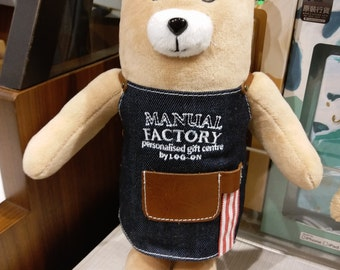 Diary Traveler's Notebook Manual Factory Bear (Medium Size) Personalized Name