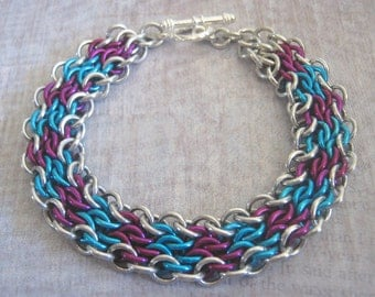 Kelly Bracelet Chain Maille Aluminum Jewelry