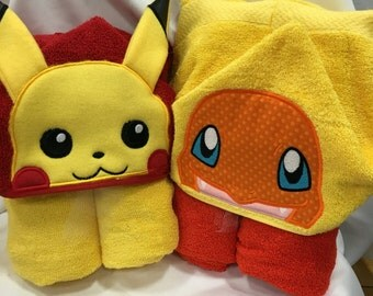 Pokemon Hooded Towel
