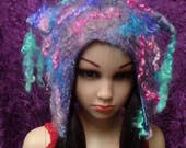 Easter Special Felted hat, Cute, little girl,or boy hat, hand made, in USA, Organic, Fairy hat, wearable art, costume art, fantasy hat, whim