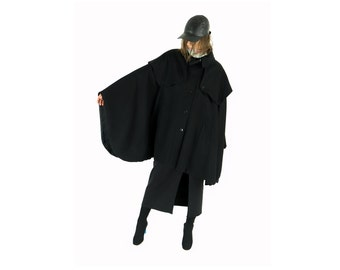 HENRIK VIBSKOV Black Wool Cape