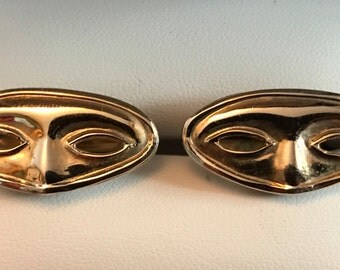 Vintage Mani Figh Theatrical Masquerade Mask Cufflinks