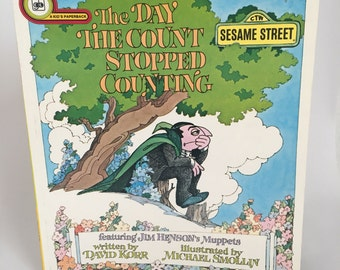 Vintage Book, Sesame Street, The Day The Count Stopped Counting