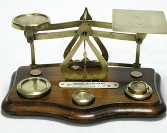 Postal Scales, Brass Postal Scales, English Postal Scales, Victorian Postal Scales, Small Postal Scales, Collectable Scales