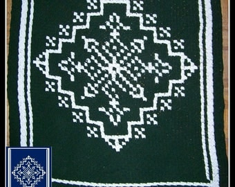C2C Graph, Snowflake Afghan C2C Graph with Written Word Chart