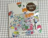 Japan Mind wave favorite Seal, KIDS stickers sack, kawaii sticker sack, cute Scrapbooking material - 70 stickers /  pack - 78226