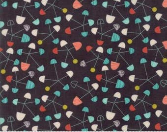 Ninja Cookies by Jenn Ski for Moda - Geometric Pinwheel - Black - 1/2 Yard Cotton Quilt Fabric