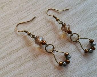Czech Glass Boho Earrings