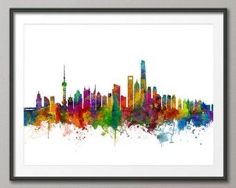 Shanghai Skyline, Shanghai China Lujiazui Cityscape (2646)