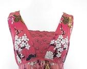 25% OFF SALE SALE-90's Vintage Dress, Floral Dress, Boho Hippie Dress Was 22 Now 12