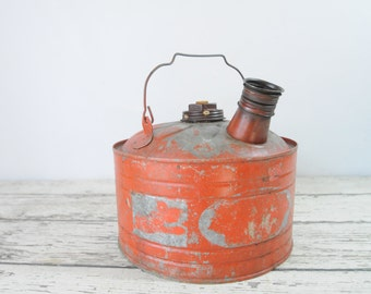 Vintage 2 Gallon Gas Can Fuel Can Gasoline