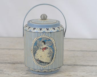 Vintage Decorative English Biscuit Tin Metal Cookie Tin Cookie Canister