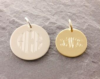 Add-On Monogram Charm, add on charm, name charm, initial charm, add charms, bracelet charm, monogram jewelry, monogram pendant, AD