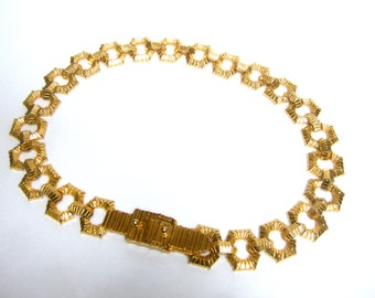 Mimi d N Heavy Gilt Link Belt c 1972