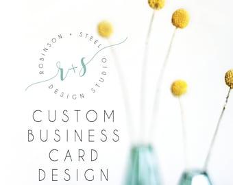 Business Card Design, Business card design for pre-made logo, business card
