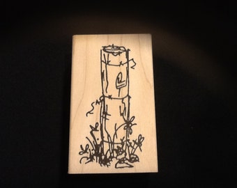 Fence Post Rubber Stamp